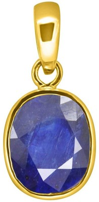 Tejvij and Sons 7.25 Ratti natural blue sapphire pendent ashthadhatu with gold plated for men & women… Yellow Gold Sapphire Metal Pendant