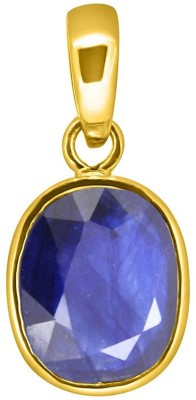 Tejvij And Sons 3.25 Ratti Blue Sapphire pendent for Capricorn panchdhatu with gold plated for men & women… Yellow Gold Sapphire Metal Pendant