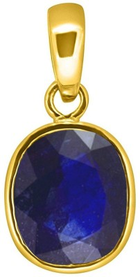 Tejvij And Sons 5.25 Ratti blue sapphire pendent panchdhatu with gold plated for men & women… Gold-plated Sapphire Metal Pendant