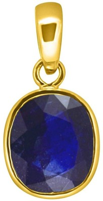 Tejvij And Sons 3.25 Ratti natural blue sapphire pendent panchdhatu with gold plated for men & women… Gold-plated Sapphire Metal Pendant