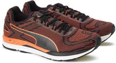 Puma Speed 600 S IGNITE Running Shoes For Men(Black, Orange)