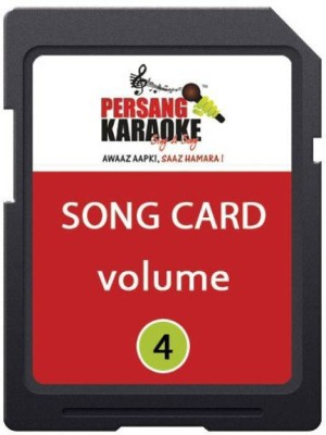 KH Persang Karaoke Song Card Vol 4 (Best of Mohd Rafi & Duet) 248 Songs Card Card Reader(Black)