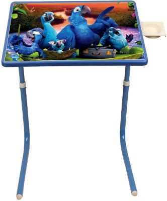 Graphitos Multi Purpose Foldable Laptop Multi Utility Table Mate - Cartoon Sky Blue Table Mate (BRDS) Blue Changing Table