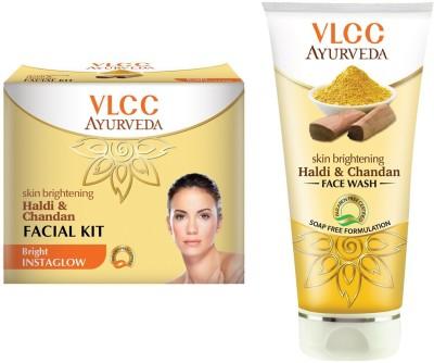 VLCC Facial Kit and Facewash Combo(Set of 2)
