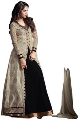 Aika Art Silk Embroidered Semi-stitched Salwar Suit Dupatta Material