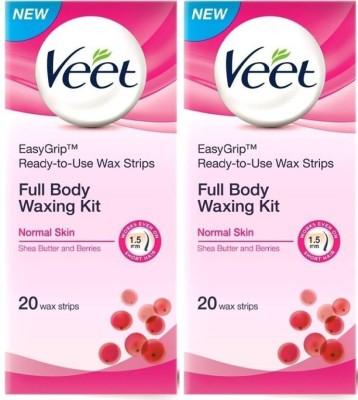 Veet Full Body Waxing Kit Normal (Pack of 2) Cream(82 g)