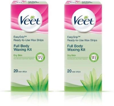 Veet SENSITIVE TOUCH+FULL BODY WAXING KIT Cordless Trimmer for Women(White)