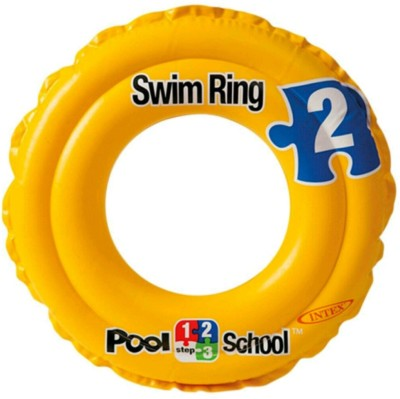 YAMAMA Deluxe 51 cm School Step 2 kiddie children swimming ring durable pvc inflatable for kids baby Inflatable Pool Accessory(Yellow)  available at flipkart for Rs.399