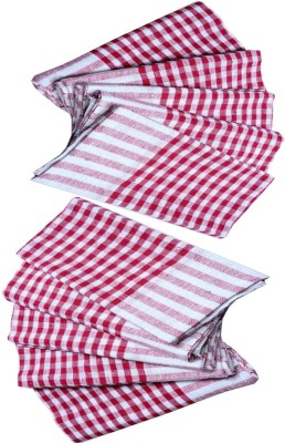 G S COLLECTIONS Duster Cloth, Multipurpose Kitchen Roti Napkin/Cloth, Table Duster Wiper Wet and Dry Cotton Cleaning Cloth (18 x 18 in) Set of 10 Pcs Red, Multicolor Napkins(10 Sheets) at flipkart