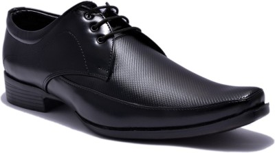 Sir Corbett Pointed Lace Up Shoes For Men(Black) at flipkart