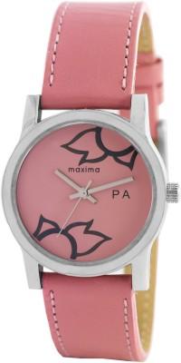 Maxima 23346LMLI Attivo Steel Analog Pink Dial Women's Watch (23346LMLI)