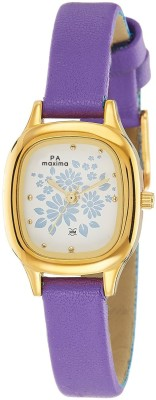 Maxima 39870LMLY Analog White Dial Women's Watch