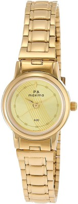 Maxima 26791CMLY Analog Gold Dial Women's Watch (26791CMLY)