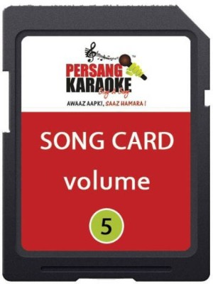 KH Persang Karaoke Song Card Vol 5 (Best of Mukesh & Asha Bhosle with Duet) 207 Songs Card Card Reader(Black)