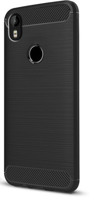 Fashionury Back Cover for Infinix Hot S3(Black Hybird, Rugged Armor, Rubber)