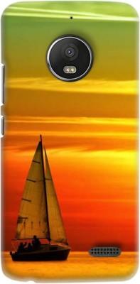 OBOkart Back Cover for Motorola Moto E4(Orange, Shock Proof)
