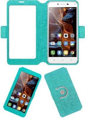 ACM Flip Cover for Lenovo Vibe K5 Plus(Turquoise, Cases with Holder, Artificial Leather)