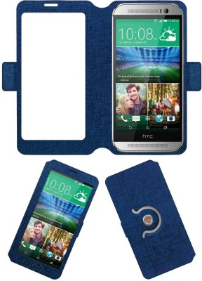 ACM Flip Cover for Htc One M8(Blue, Cases with Holder, Artificial Leather) Flipkart