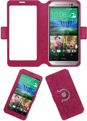 ACM Flip Cover for Htc One M8(Pink, Cases with Holder, Artificial Leather) Flipkart