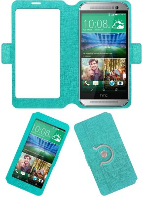 ACM Flip Cover for Htc One M8(Turquoise, Cases with Holder, Artificial Leather) Flipkart