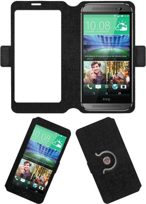 ACM Flip Cover for Htc One M8 Eye(Black, Cases with Holder, Artificial Leather) Flipkart