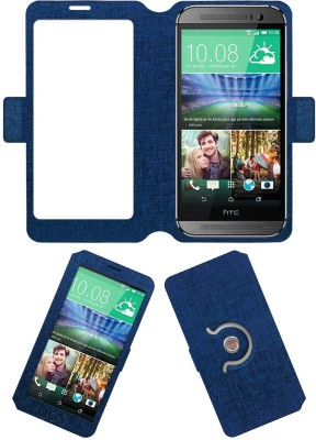 ACM Flip Cover for Htc One M8 Eye(Blue, Cases with Holder, Artificial Leather) Flipkart
