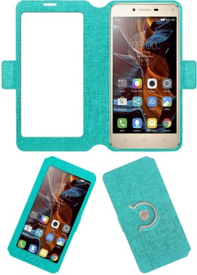 ACM Flip Cover for Lenovo Vibe K5(Turquoise, Cases with Holder, Artificial Leather)