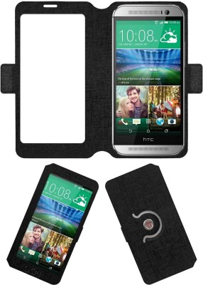 ACM Flip Cover for Htc One M8(Black, Cases with Holder, Artificial Leather) Flipkart