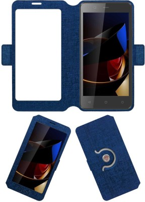 ACM Flip Cover for Swipe Elite 2 Plus 4g(Blue, Cases with Holder, Artificial Leather)