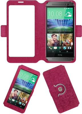 ACM Flip Cover for Htc One M8 Eye(Pink, Cases with Holder, Artificial Leather) Flipkart