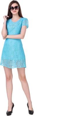 Clo Clu Women A-line Blue Dress