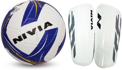 Nivia Combo of Two- One 'Storm Revolution' Football (Size-5) and one Pair of 'Classic' Shin guard- Football Kit  available at flipkart for Rs.980