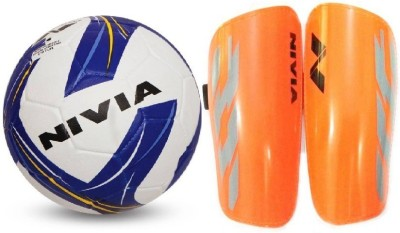 Nivia Combo of Two- One 'Storm Revolution' Football (Size-5) and one Pair of Shin guard- Football Kit  available at flipkart for Rs.980