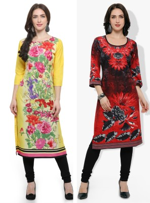 Fab Attire Casual Solid, Printed Women