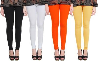 PAMO Churidar  Legging(Black, White, Red, Yellow, Solid)