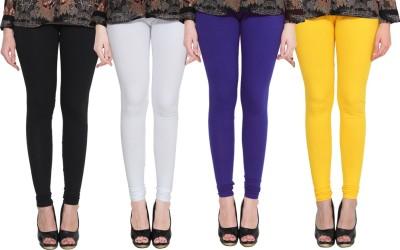PAMO Churidar  Legging(Black, White, Blue, Yellow, Solid)