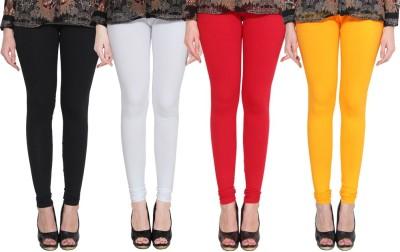 PAMO Churidar  Legging(Black, White, Orange, Yellow, Solid)