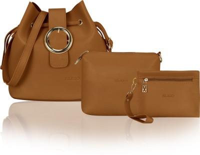 cfb94db85 53% OFF on Kleio Women Casual Brown PU Sling Bag on Flipkart ...