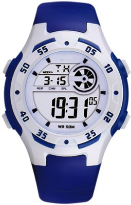 DIRAY DR201L2-Navy Blue Attractive Dial Electroluminescence Backlight Multifunctional Watch  - For Boys & Girls