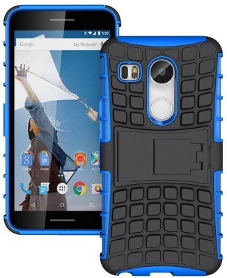 G.V.C. Back Cover for LG Nexus 5X 2015(Blue, Shock Proof, Rubber, Plastic, Silicon)