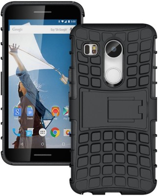 G.V.C. Back Cover for LG Nexus 5X 2015(Black, Shock Proof, Rubber, Plastic, Silicon)
