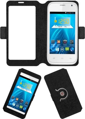 ACM Flip Cover for Spice Smart Flo Ivory 2 Mi-423(Black, Cases with Holder)