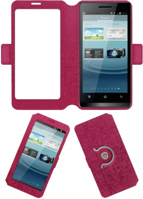ACM Flip Cover for Karbonn Smart A7 Star(Pink, Cases with Holder)