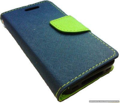 Vimkart Wallet Case Cover for 5 inch mobile Matrixx(Blue, Grip Case, Artificial Leather)