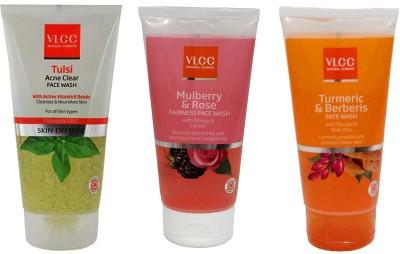 VLCC Original Tulsi Acne Clear, Mulberry and Rose, Turmeric and Berberis FaceWash...