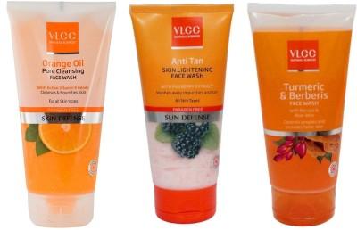 VLCC Original Orange Oil, Anti Tan Skin Ligtening, Turmeric and Berberis FaceWash...