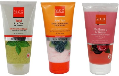 VLCC Original Tulsi Acne Clear, Anti Tan Skin Ligtening, Mulberry and Rose...