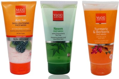 VLCC Original Neem Chamomile and Tea Tree, Anti Tan Skin Ligtening, Turmeric...