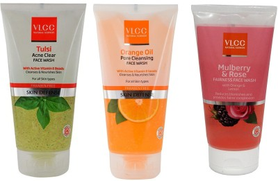 VLCC Original Tulsi Acne Clear, Orange Oil, Mulberry and Rose FaceWash Face...
