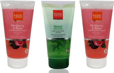 VLCC Original Neem Chamomile and Tea Tree, Mulberry and Rose, Mulberry and...